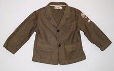 La Compagnie Des Petits Brown Herringbone Button Front Sports Jacket, 24 mos.