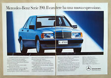 D431-Advertising Pubblicità-1988 - MERCEDES SERIE 190