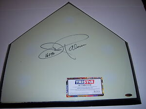 JIM PALMER BALTIMORE ORIOLES,1990 HOF TRISTAR/HOLO SIGNED AUTHENTIC HOME PLATE