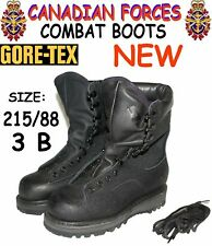 CANADIAN ARMY GORE-TEX COMBAT BOOTS - 3B - 215/88 - COLD WET WEATHER - DC