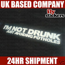 Im not Drunk, just avoiding potholes sticker 200x30mm