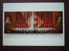 POSTCARD LONDON TRANSPORT POSTER - 1986 CURTAINS FOR YOUR TRAVELCARD