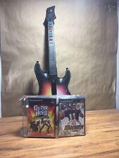 Sony PlayStation 2 PS2 Games *Lot of 8* + Guitar Hero Guitar