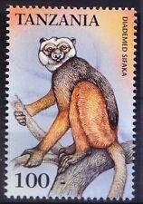 Tanzania 1999 MNH, Diademed Sifaka, Lemurs, Endangered Animals species  -J19