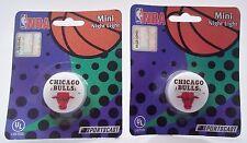 Lot of 2 NBA Chicago Bulls Mini Night Lights By Sportscast Basketball Fans