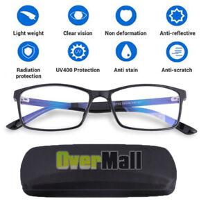 Anti Blue Light Reflecter Computer Gaming Reading Glasses UV Blocking Protection