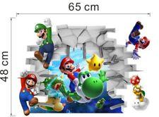 Super Mario Bros Kids Removable Wall Sticker Decals Nursery Home Decor Vinyl