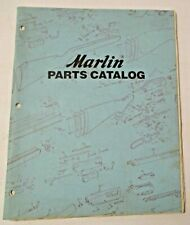 VINTAGE 1986 MARLIN SPORTING FIREARMS PARTS CATALOG & PRICE LIST ~ HUNTING