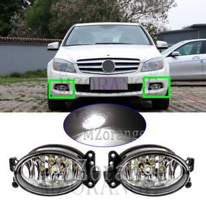 2pcs LED Front Fog Light For MERCEDES Benz W204 W164 W169 W211 SL R230 2007-2012