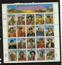 USA 1993 Legends of the West sheet cto used