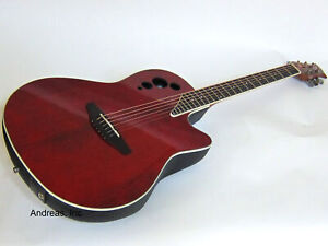 Ovation Applause Elite Series Acoustic-Electric Guitar - Ruby Red