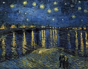 Starlight Over The Rhone by Vincent Van Gogh - Art Print/Poster 11x14 inches