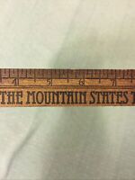 Vintage Mountain States Telephone & Telegraph Long Distance WOOD RULER