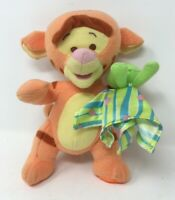 Disney Winnie the Pooh Tigger Plush Soft Toy Fisher-Price Rattle Baby Comforter