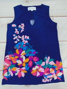 Nikki Poulos Disney Bound Alice Looking Glass Stretch Floral Large L Shift Dress