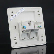 Wall Socket Plate One port  RJ11 Phone TEL + One  port Cat6 Panel Faceplat