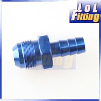 -10 AN 10 AN10 10AN to 8mm Barb Straight Fitting Fuel Line Aluminum Blue