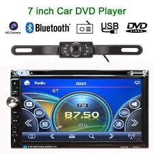 "2 Din 7"" HD Stereo Car DVD CD MP3 Player Bluetooth Radio TF/USB HD Rear Camera K"