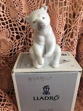 Lladro 1208 Resting Polar Bear Mint Condition! Original Grey Box! Great Gift!