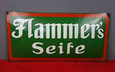 Emailschild Flammer´s Seife / Emaillierwerk Klee & Leineweber, Germersheim