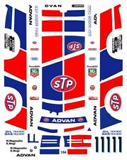#1 BMW 635 STP INTERTEC 1986 1/64TH Scale Waterslide Slot Car Decal