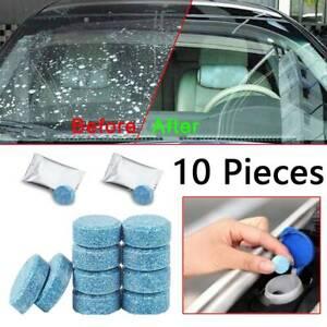 10* Car Glass Washer Effervescent Tablet Rain Scraper Solid Wiper Spray Cleaner
