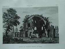 1845 Zuccagni-Orlandini Veduta del Tempio di Minerva Medica in Roma