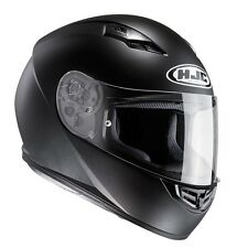 HJC CS-15 Plain Matt Black Full Face CS 15 HJC Motorcycle/Motorbike Helmet ZE