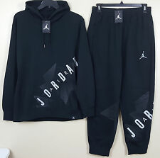 NIKE JORDAN VI RETRO 6 SWEATSUIT HOODIE + SWEATPANTS BLACK GREY RARE (SIZE 2XL)
