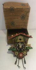 More details for antique hekas mini german cuckoo clock +original box kuckuck parts spares z57