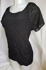 Gorgeous black sheer sleeve PAPAYA party evening top Size 16