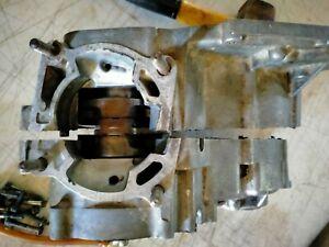 KAWASAKI KX 100 80 (92 to 97) ENGINE CRANKSHAFT AND  CASES.  (WRECKING BIKE)