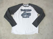 Lucky Brand Triumph Shirt Adult Extra Large White Gray Motorcycle Biker Mens *