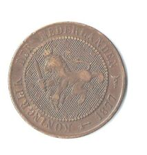 1877 Netherlands 2.5 2 ½ Cent Coin, Good Overall