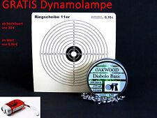 OAKWOOD SET-  50 ZIELSCHEIBEN 11er RING + 500 SCHUSS DIABOLO BASIC