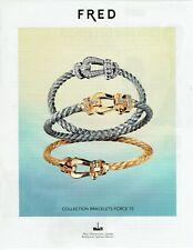 Publicité Advertising 049  2011    collection bracelets Force 10  Fred   2.4.19