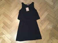 Juicy Couture New & Genuine Ladies Small Black Sleeveless Tiered Cotton Dress