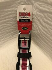 "Kong Rope Dog Collar L-XL Pink neck size 20""- 28"""