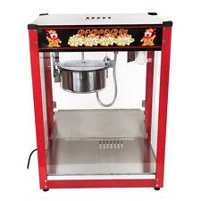 1370W Commercial Popcorn Machine Stainless Steel Red Pop Corn Warmer Cooker Popp