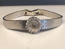 18k White Gold & Diamond Universal Geneve Ladies Estate Wristwatch