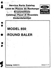 New Holland 850 Round Baler Parts Catalogue (PDF file) SPARE PARTS LIST