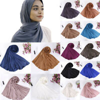 Women Soft Muslim Turban Hat Hair Head Scarf Wrap Cap Shawl P Headwear 150X50cm