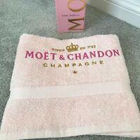 MOET & CHANDON PINK HAND TOWEL - PINK CHAMPAGNE GIFT WONDERFUL BIRTHDAY GIFT