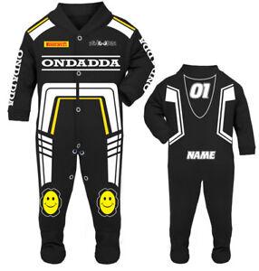 2017 OnDadda Baby Biker Race Sleep Suit