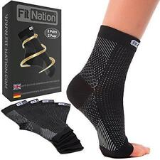 2 xPairs FIT NATION Compression Socks Heel Support Plantar Fasciitis Pain UK7-11
