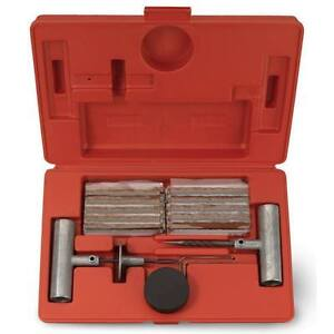 35 Pieces Tire Repair Tool Kit W/Case Plug Patch New