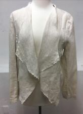 KUT FROM THE KLOTH WOMEN'S LINEN OPEN FRONT JACKET OATMEAL COLOR