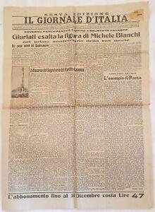 IL GIORNALE D'ITALIA 4 FEBBRAIO 1931 SCARFO NEW ZEALAND GENY LUIGGI CHIARAVALLE