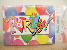 NEW Carlton Cards Colorful Balloons 10 Adult Party Invitations & Envelopes