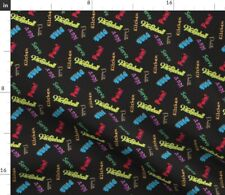 Pickleball Text Sport Colorfull Retired Dink Fabric Printed by Spoonflower BTY
